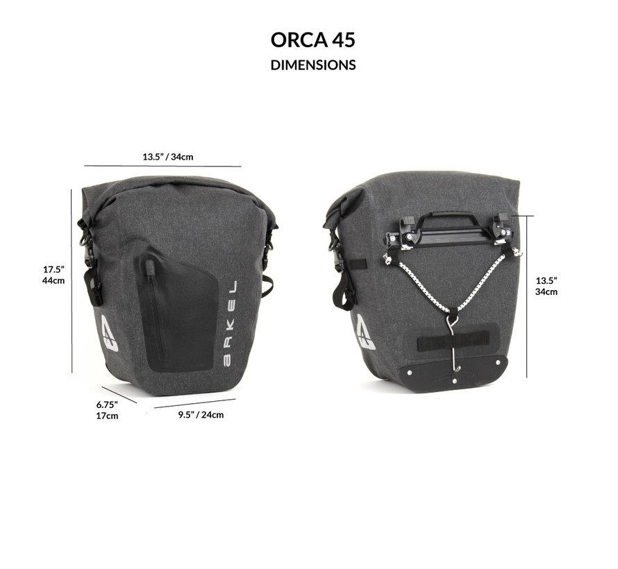 Orca 45 - Sacoches de vélo avant et arrière (Paire)
