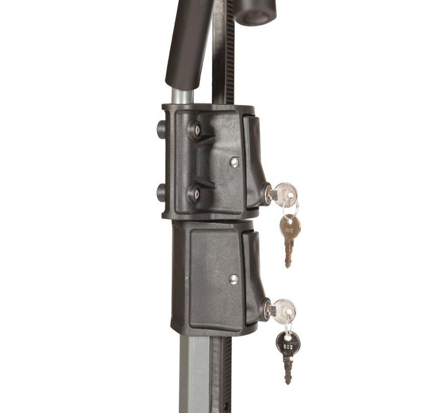 Quad 2 + 2 Support à vélo sur attache remorque (E-bike, Fat bike)