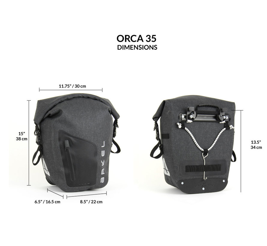 Orca 35 - Sacoche de vélo (paire)