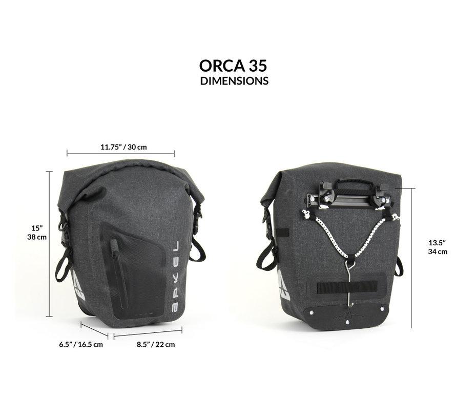Orca 35-  Sacoches de vélo avant et arrière (Paire)
