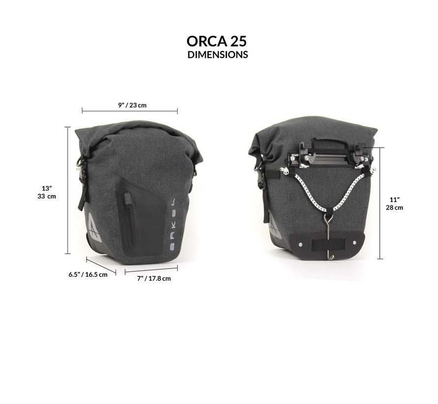 Orca 25 - Sacoche de vélo (paire)