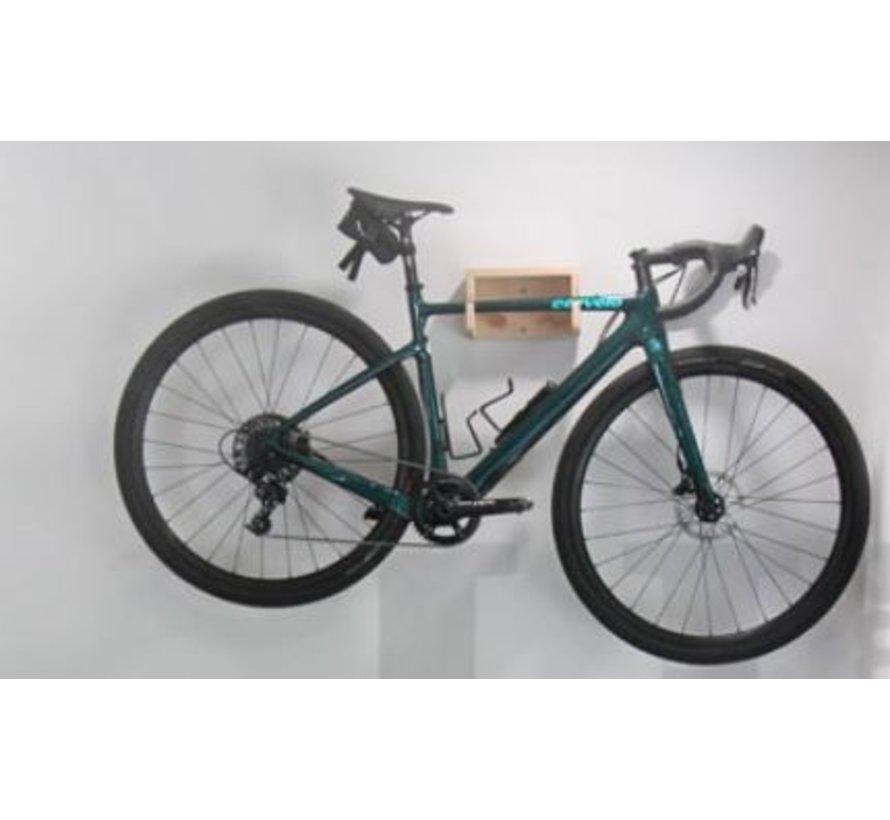 Support mural en bois pour vélo