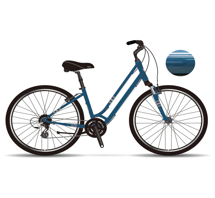Flourish FS 1 2021 - Vélo hybride confort à simple suspension Femme