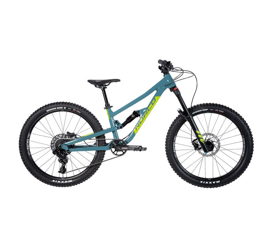 Fluid FS 4.1 2021 - Vélo montagne double suspension pour Enfant 9 à 12 ans (roues 24 pouces)