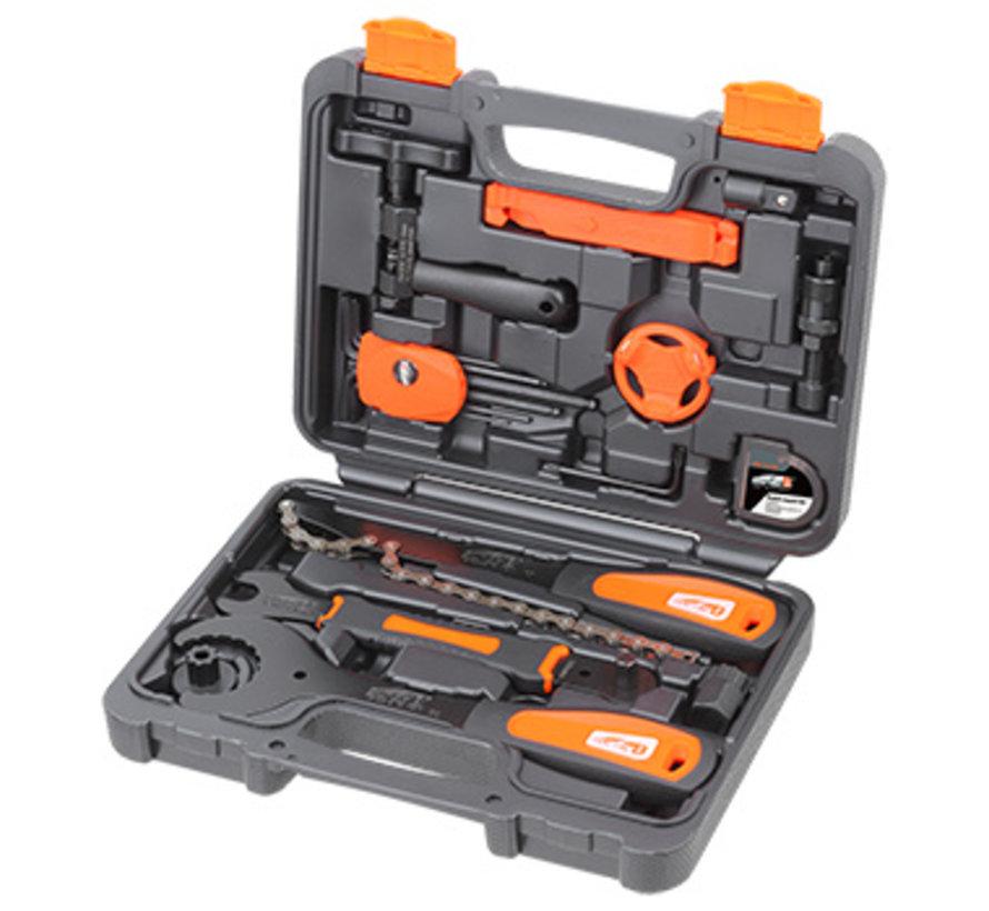 Coffre d'outils 21 pièces TBA300 pour vélo