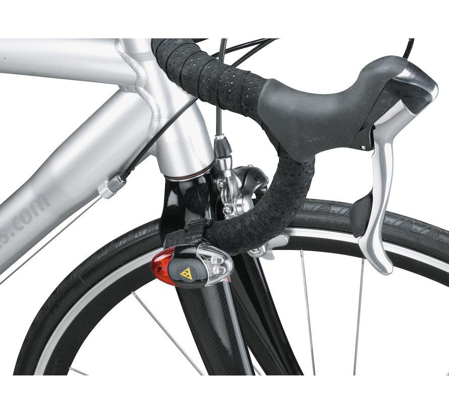 Lumière de casque vélo Headlux (avant et arrière)
