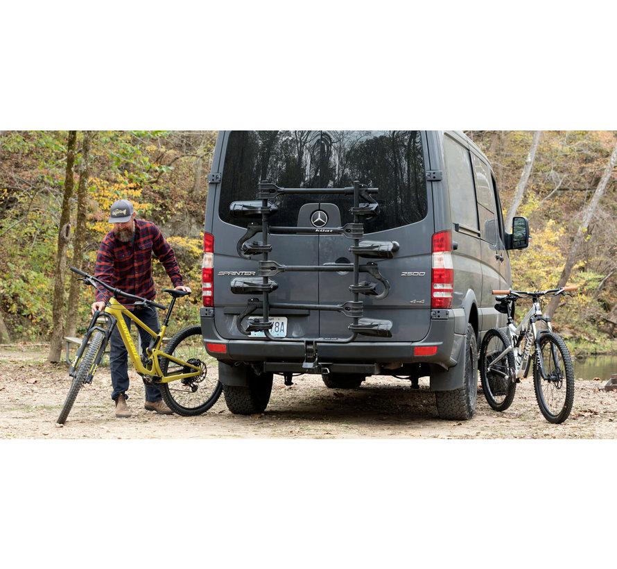 Porte-vélo Transfer V2 sur attache remorque (3 vélos)
