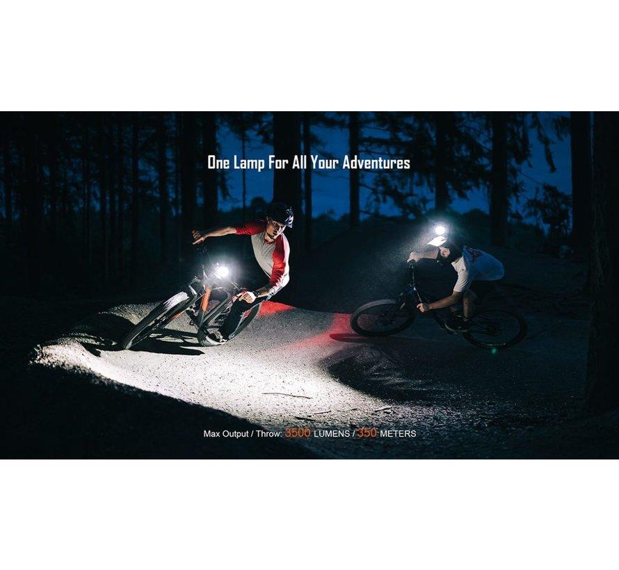 Lumière vélo Monteer 3500S (avant)