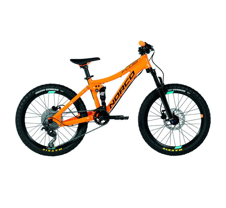 Fluid 20 FS 2020 - Vélo de trail pour enfant de 7 à 10 ans (roues 20 pouces)