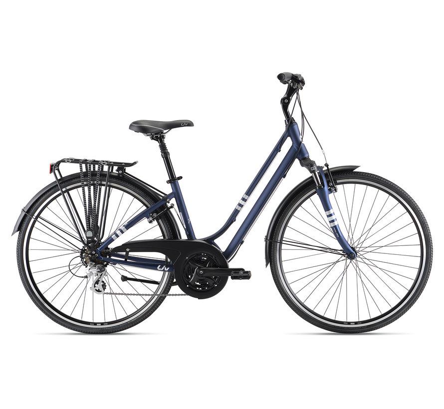 Flourish FS 2 2022 - Vélo hybride confort à simple suspension Femme