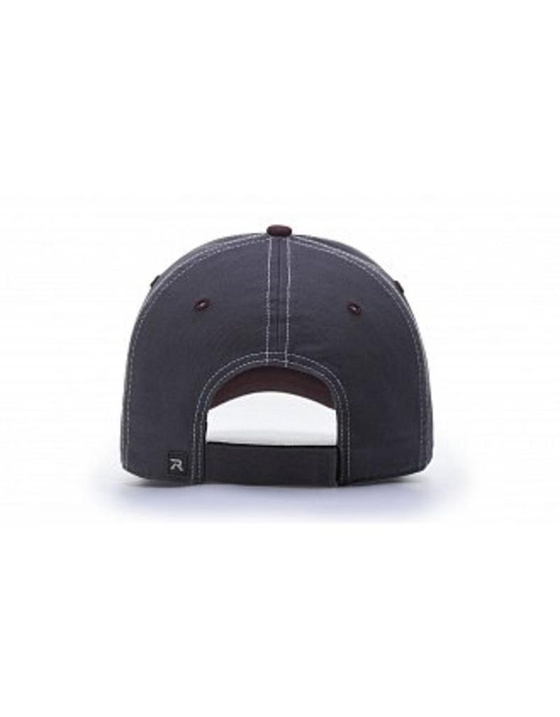 Richardson 1203 White/Charcoal Washed Unstructured Cherries Cap