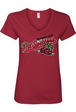 2600 Ladies Primary Logo Dark Red Tee