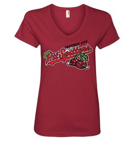 Ladies Primary Logo Dark Red Tee