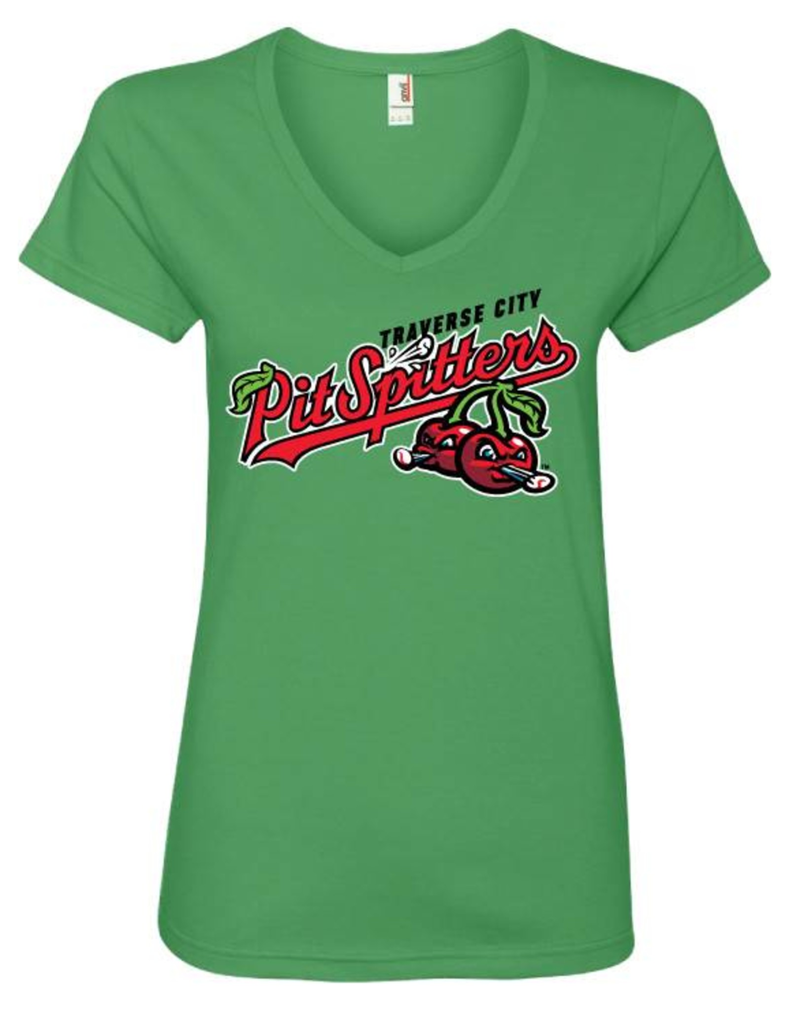 2601 Ladies Primary Logo Green Apple Tee