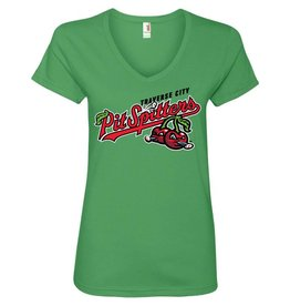 Ladies Primary Logo Green Apple Tee