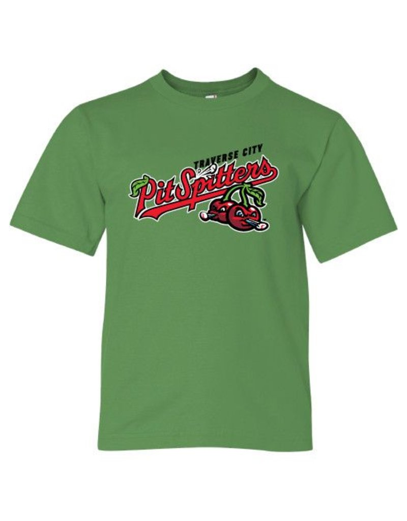 2801 Youth Primary Logo Green Apple Tee
