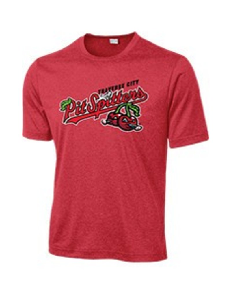 2813 Youth Primary Logo Scarlet Poly Contender Tee