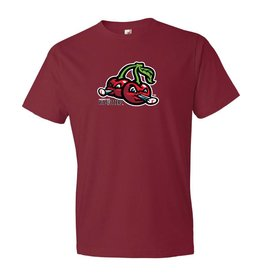 Cherries Logo Dark Red Tee