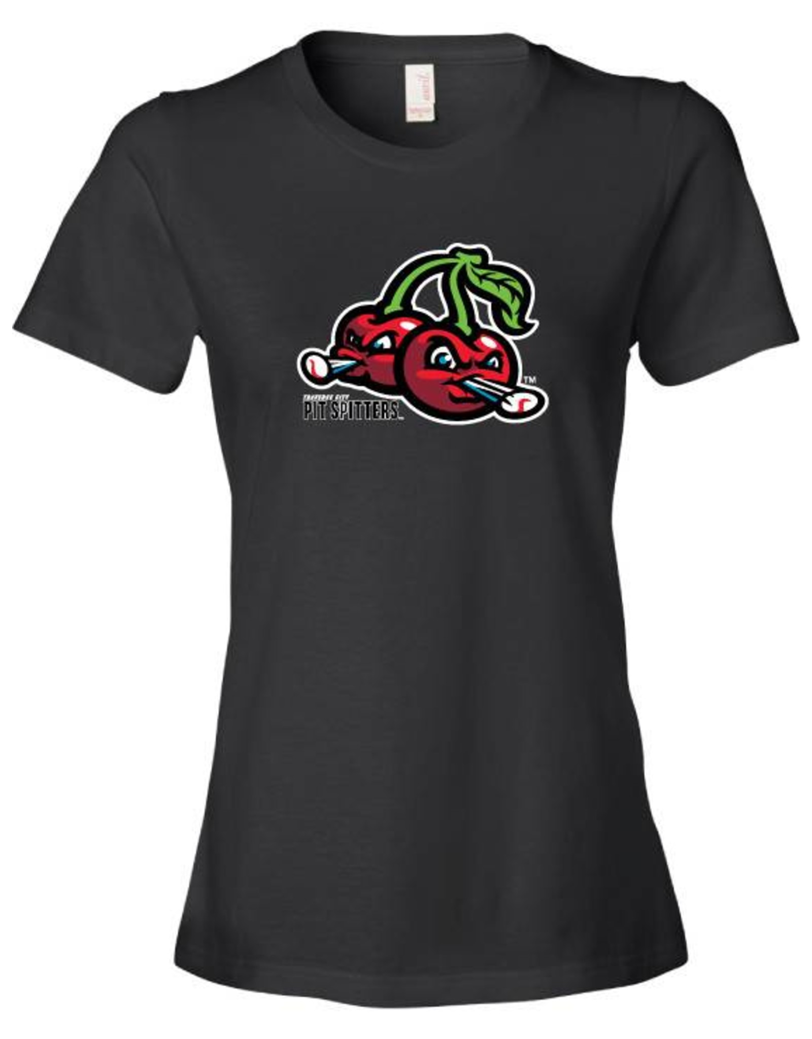 2620 Ladies Cherries Logo Black Tee