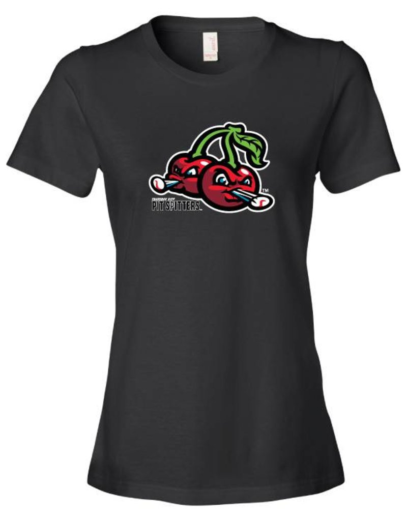 2620 Ladies Cherries Logo Black Tee