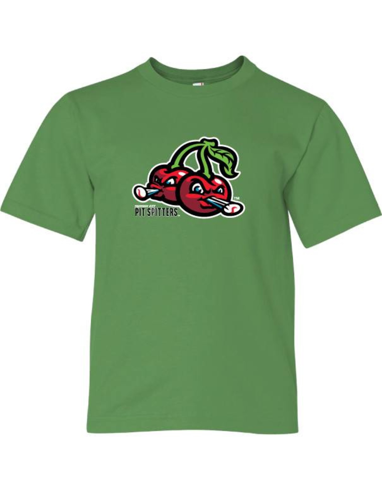 2820 Youth Cherries Logo Green Tee
