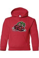 3520 Youth Cherries Logo Red Hood