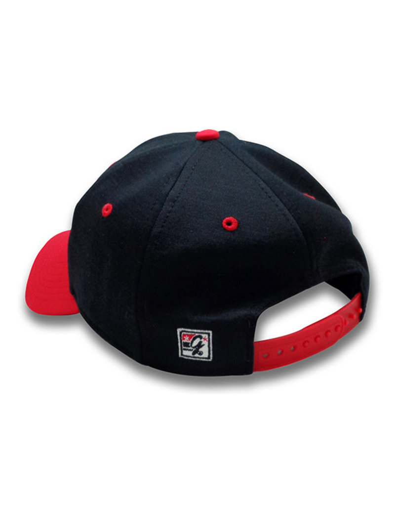 The Game 1238 Game Changer Charcoal/Red Primary Snapback Cap