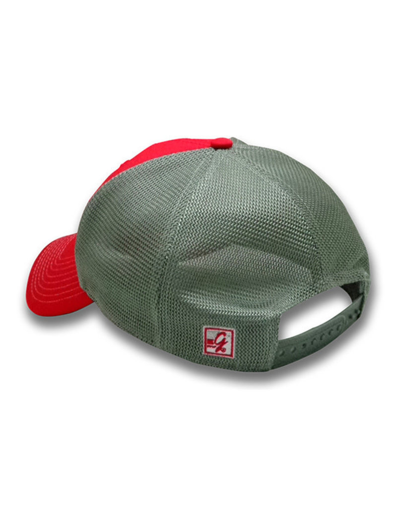 The Game 1239 Game Changer Red/Grey Primary Mesh Snapback Cap