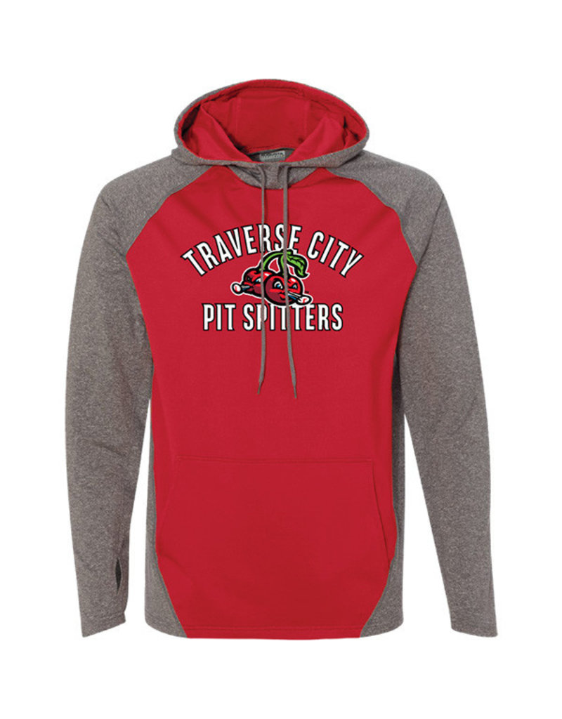 Augusta 3040 Zeal Arched Red/Grey Hoodie