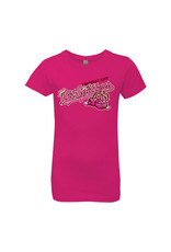 Next Level 2850 Youth Girls Raspberry Tee
