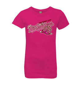 Next Level Youth Girls Raspberry Tee