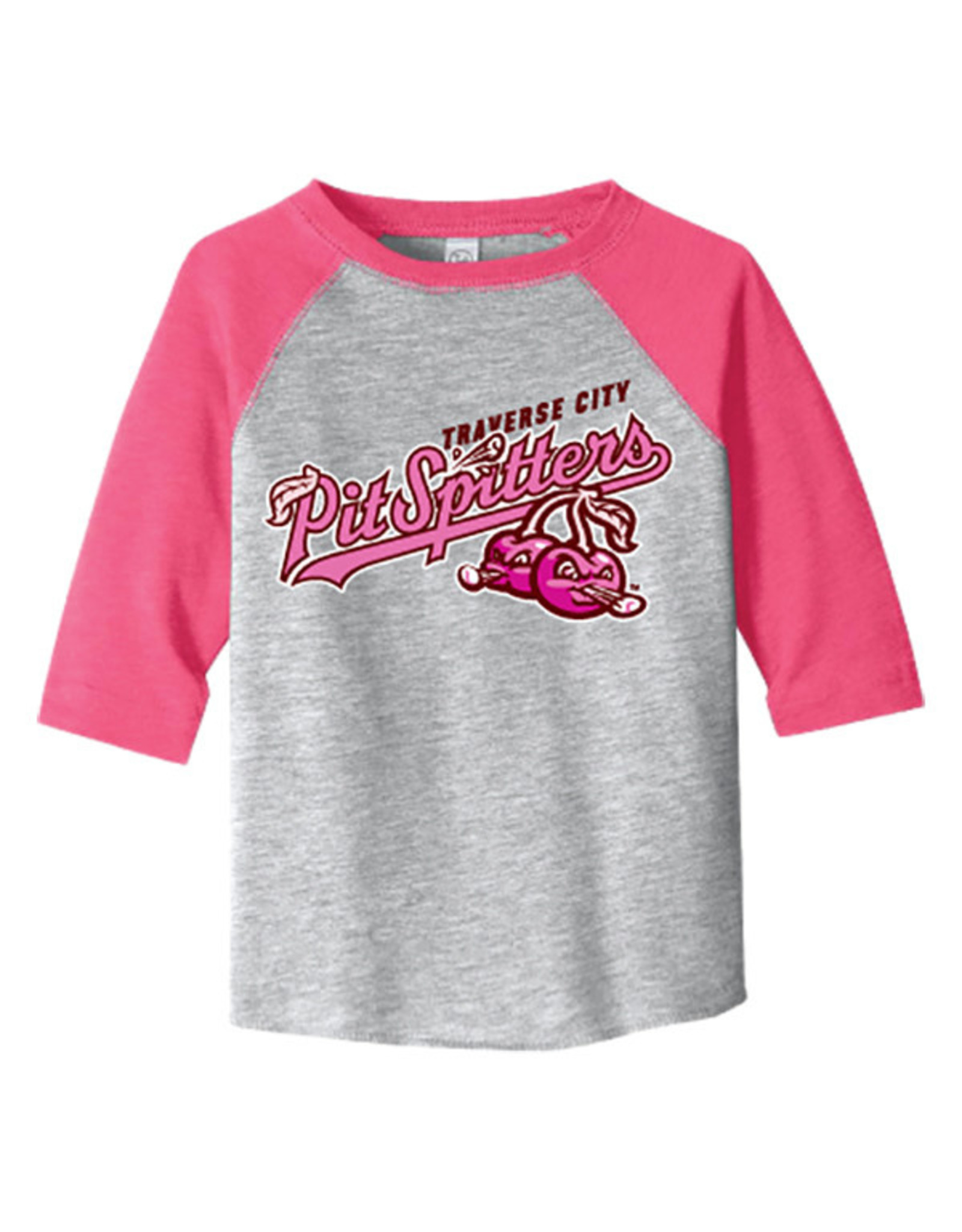 Rabbit Skins 2931 Toddler 3/4 Sleeve Heather/Pink Tee