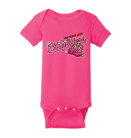 Rabbit Skins Infant Raspberry Onesie