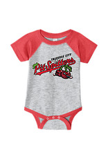 Rabbit Skins 2970 Infant Grey/Red Baseball Onesie