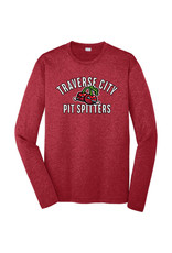 Sport-Tek 2050 Arched Cherries L/S Heather Red Poly Tee