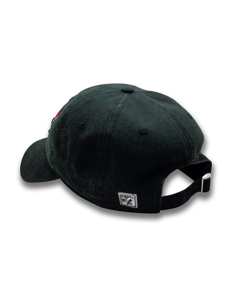 The Game 1220 Black Primary Logo Washed Twill Cap