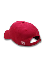 The Game 1223 Vintage Red Arch MI Logo Washed Twill Cap