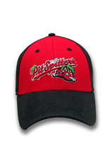 The Game 1226 Red/Black Primary Logo Structured Washed Twill Cap