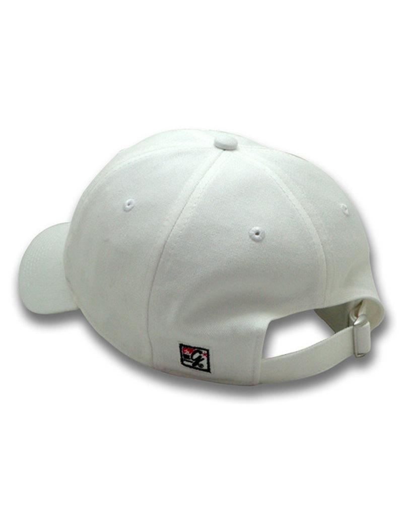 The Game 1405 Ladies Garment-Wash Michigan Logo White Cap