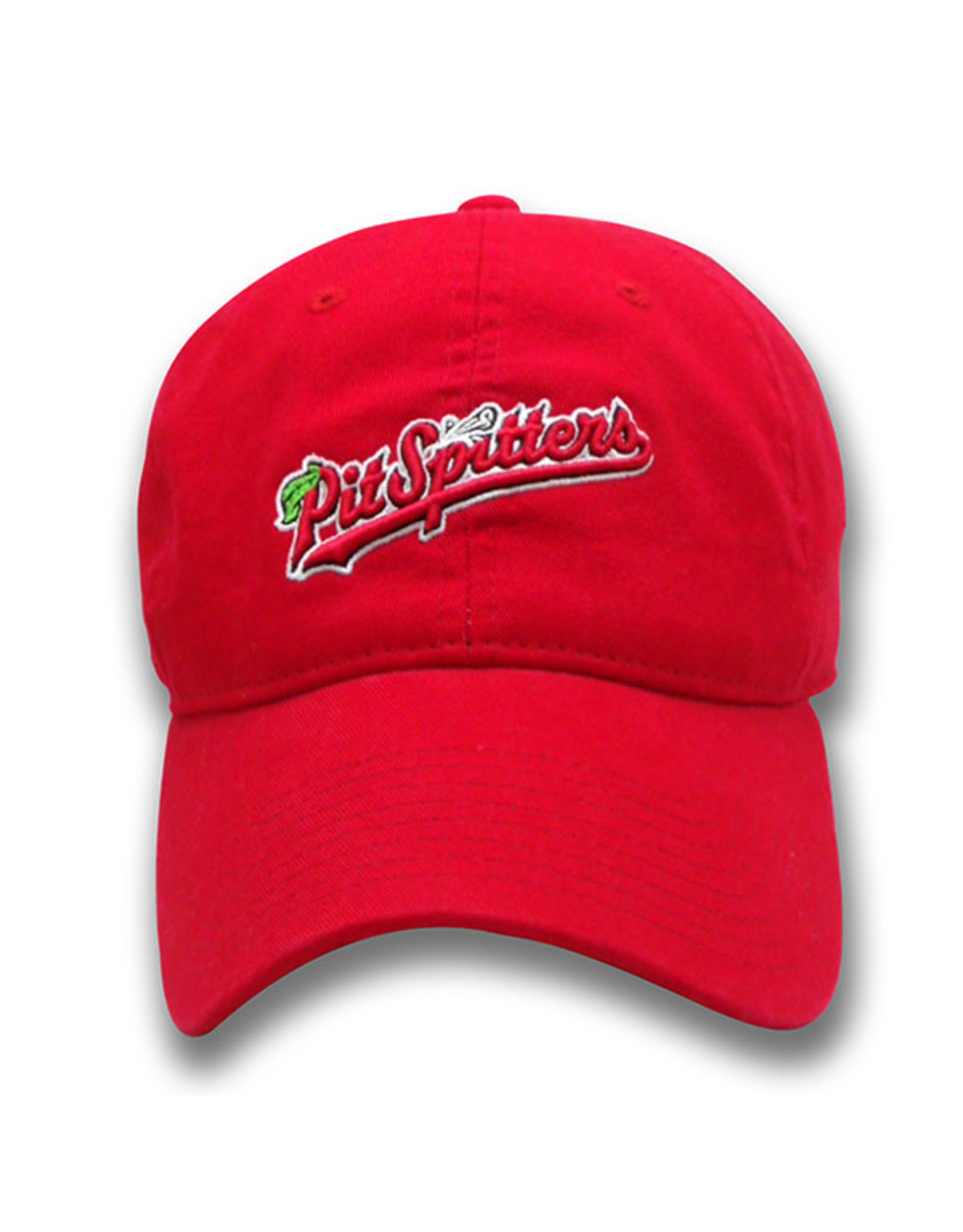 The Game 1406 Ladies Garment-Wash Script Logo Red Cap