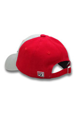 The Game 1605 Youth Garment-Washed Grey/Red Cherries Cap