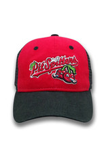 The Game 1621 Youth Trucker Red/Black Primary Cap