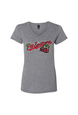 2602 Ladies Primary Distressed Graphite Tee