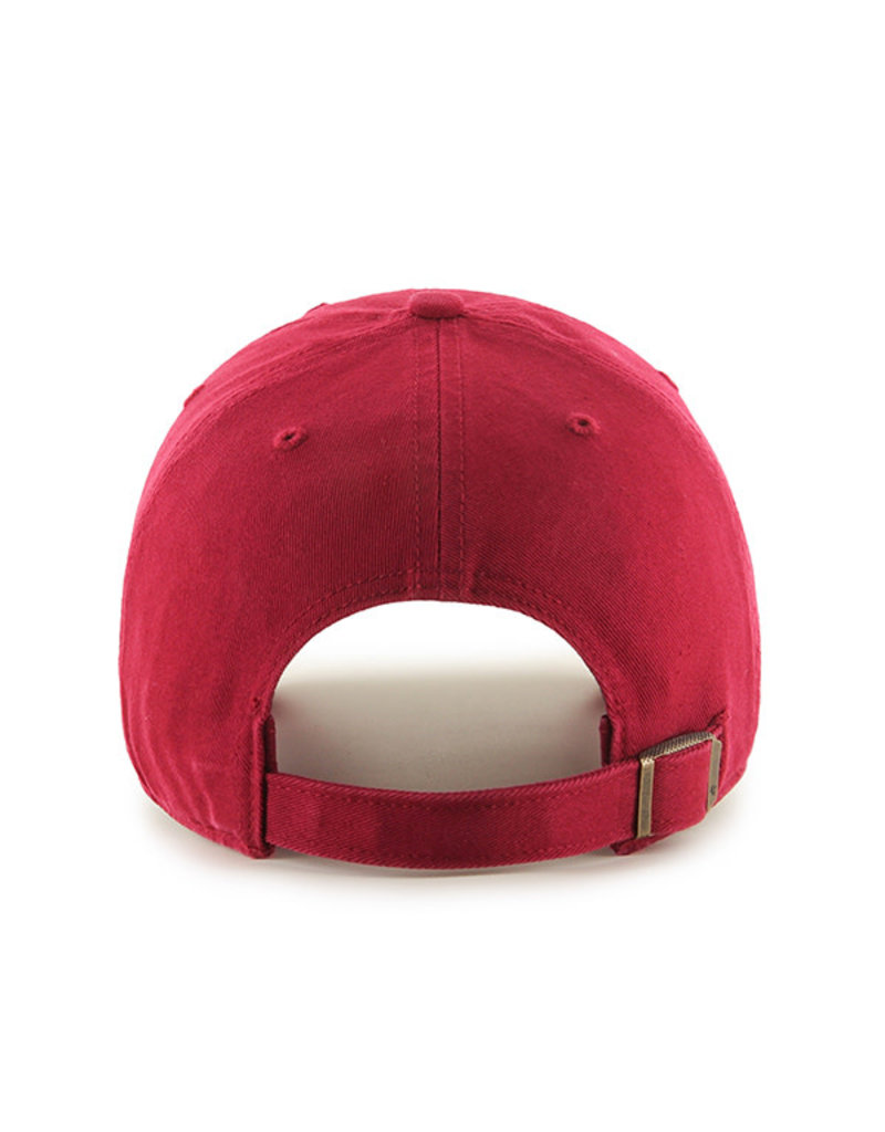 '47 Brand 1211 Dark Red MI logo Clean Up Cap