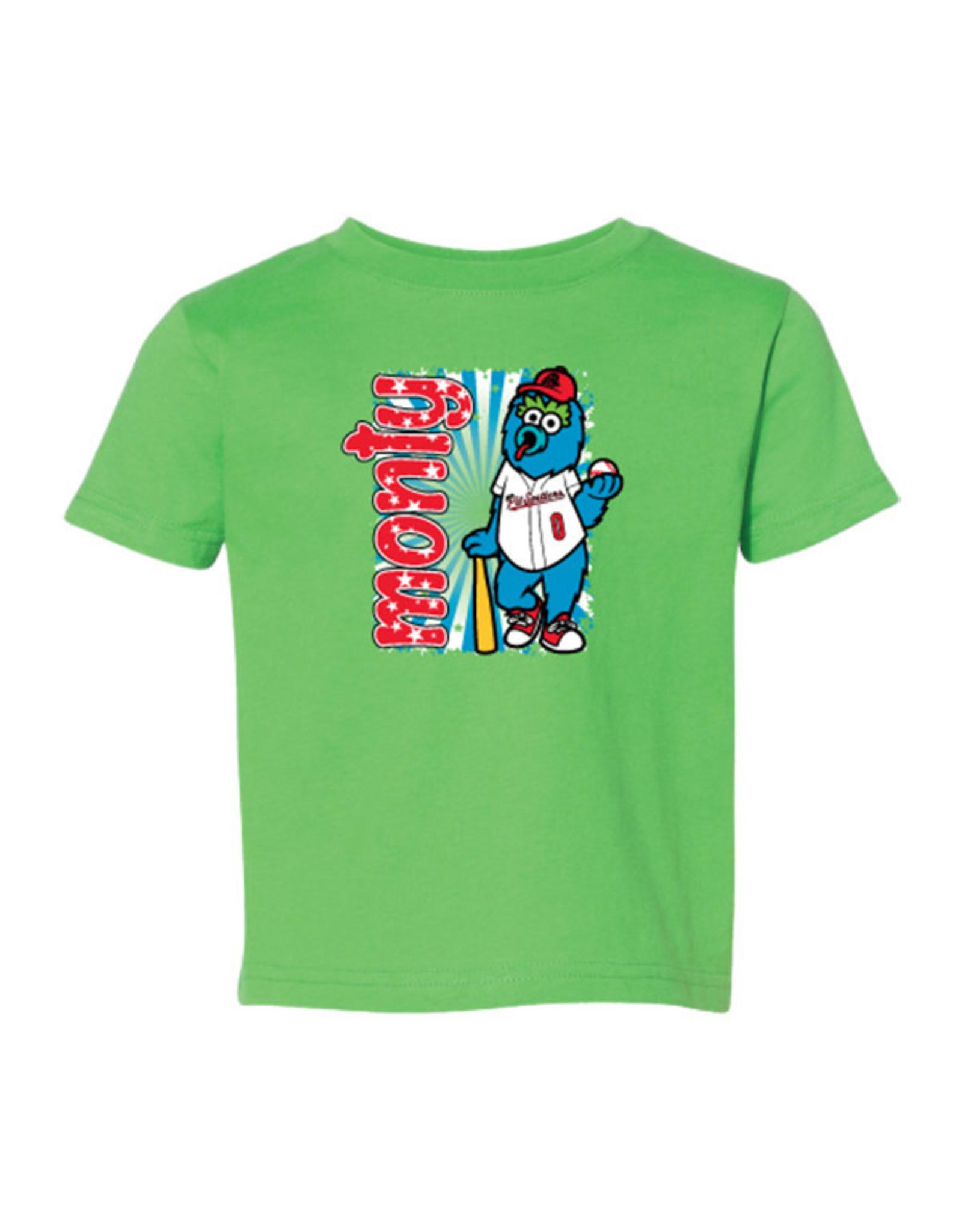 2910 Toddler Monty Mascot Green Tee