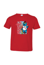 2911 Toddler Monty Mascot Red Tee