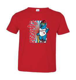 Toddler Monty Mascot Red Tee