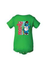 2960 Infant Monty Mascot Green Onesie