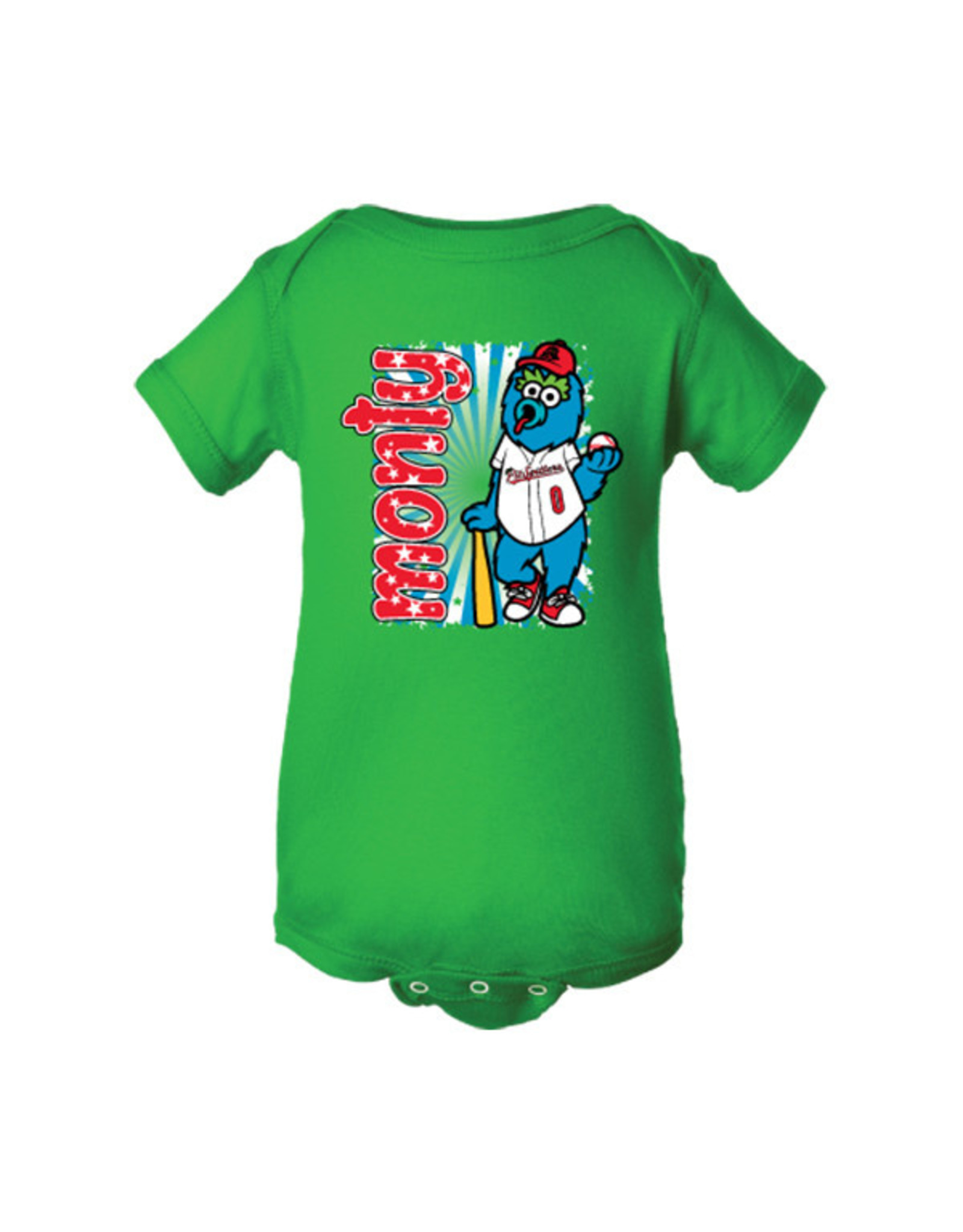 2960 Infant Monty Mascot Green Onesie