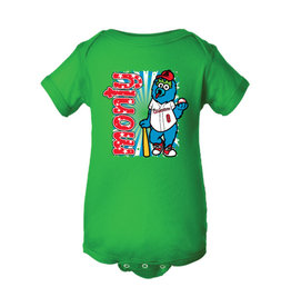 Infant Monty Mascot Green Onesie